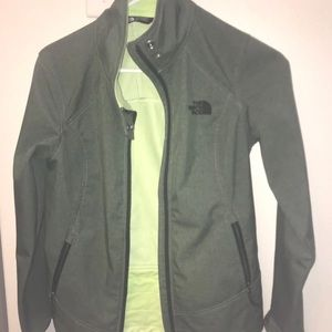 Olive Green North Face Jacket